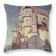 The Church At Moret Throw Pillow by Alfred Sisley