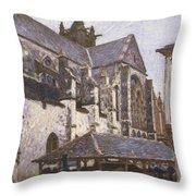 The Church At Moret Throw Pillow
