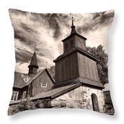 The Church Of Fagervik Throw Pillow