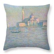 The Church Of San Giorgio Maggiore Throw Pillow