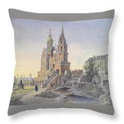 The Church Of The Dormition Throw Pillow