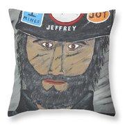The Coal Man Throw Pillow