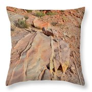 The Color Of Valley Of Fire Throw Pillow