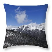 The Continental Divide Throw Pillow