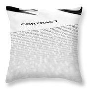 The Legal Contract Throw Pillow