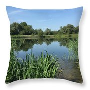 The Cotswold Water Park Throw Pillow