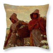 The Cotton Pickers Throw Pillow