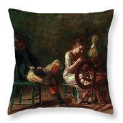 The Courtship Throw Pillow