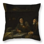 The Covetous Man Throw Pillow