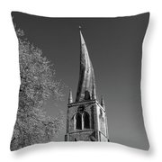The Crooked Spire Of St Mary And All Saints Church, Chesterfield Throw Pillow