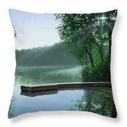 The Cross And The  Light Throw Pillow