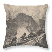 The Cut From Culebra Throw Pillow