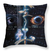 The Danse Macabre Throw Pillow
