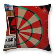 The Dart Board Throw Pillow