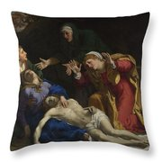 The Dead Christ Mourned The Three Maries Throw Pillow