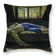 The Death Of Chatterton Throw Pillow