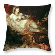 The Death Of Cleopatra Throw Pillow