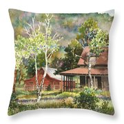 The Delonde Homestead At Caribou Ranch Throw Pillow