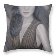 The Doll Throw Pillow