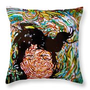 The Drowning Artist Throw Pillow