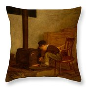 The Early Scholar Throw Pillow