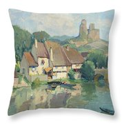 The Edges Of The River Throw Pillow