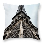 The Eiffel Tower In Paris Throw Pillow