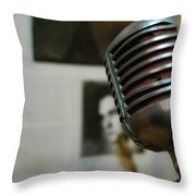 The Elvis Mic Throw Pillow by JAMART Photography