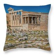 The Erechtheum On The Acropolis, Athens, Greece Throw Pillow