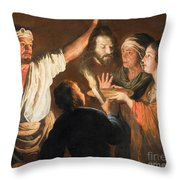The Executioner With The Head Of John The Baptist Throw Pillow