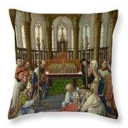 The Exhumation Of Saint Hubert Throw Pillow