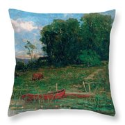 The Farm Landing Throw Pillow
