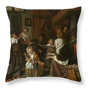 The Feast Of St. Nicholas Throw Pillow