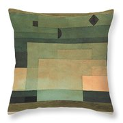 The Firmament Above The Temple Throw Pillow