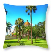 The First Baptist Church Of Tampa  Throw Pillow