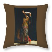The Flamenco Dancer Throw Pillow