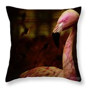 The Flamingo Throw Pillow