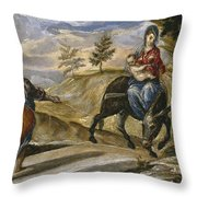 The Flight Into Egypt Throw Pillow