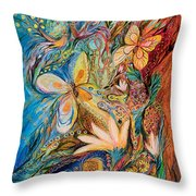 The Flowers And The Fruits Throw Pillow