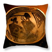 The Flute Player Throw Pillow