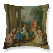 The Four Ages Of Man   Childhood Throw Pillow