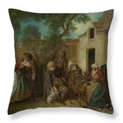 The Four Ages Of Man   Old Age Throw Pillow