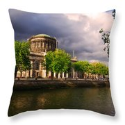 The Four Courts In Reconstruction 2 Throw Pillow