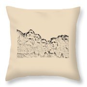 The Four Presidents Throw Pillow