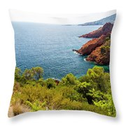 The French Riviera  Throw Pillow