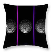 The Fruit Machine Stops Throw Pillow