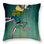 The Fruit Machine Stops Detail Throw Pillow