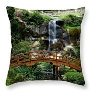 The Garden Bridge Throw Pillow