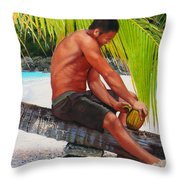 The Gatherer Throw Pillow