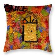 The Golden Door Of Grace Throw Pillow